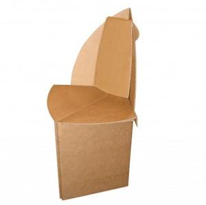 2 chaises en carton pour adulte