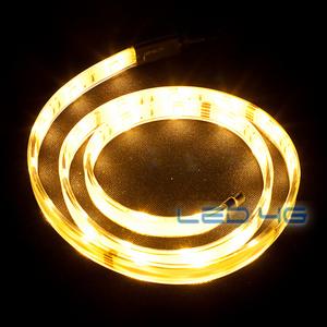 Ruban LED puissant blanc chaud etanche en 1 et 5M - LED 4G