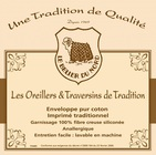 "Oreiller ""Tradition Belier du Nord"" 60x60 - BLEU CALIN - DESTOCKAGE"