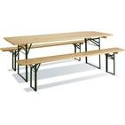 Table pique nique BRASSEURS en bois FSC et métal - BURGER