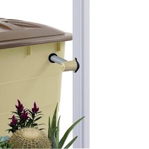 Collecteur eau de pluie Speedy Eco QUATTRO carré sable (sans découpe de gouttière) - GARANTIA