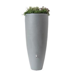 Réservoir eau de pluie 2 en 1 avec bac à plantes Gris - GARANTIA