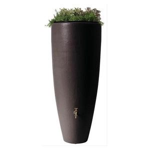 Réservoir eau de pluie 2en1 avec bac à plantes Moka - GARANTIA