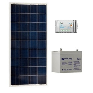 Kit solaire SITE ISOLE 100Wc 60AH Polycristallin - 12V