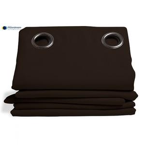 Rideau isolant thermique HIVER couleur Marron 145X260
