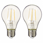Pack de 2 Ampoule LED à filaments A60 Blanc brillant (équi. 40W) E27 - XANLITE - DESTOCKAGE