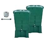 Kit 2 Cuves à eau de pluie 300 L - GARANTIA   Attention Conditions de SAV des produits Graf GARANTIA voir fichier pdf