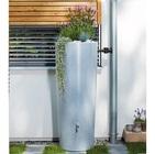 Réservoir eau de pluie Stone 2 en 1 350L avec bac à plantes intégré Silver (Gris Clair) - GARANTIA