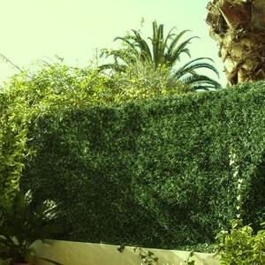 Haie artificielle LUX 243 brins Vert Thuyas maillage Losange 150x300 - JET7GARDEN