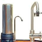 Filtre INOX sur évier avec une cartouche XM +EM-X HYDROPURE TECI-EM