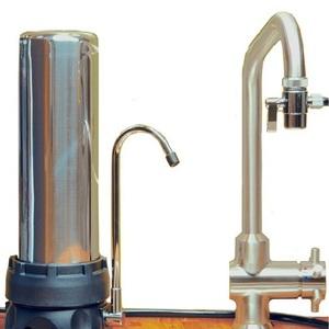 Filtre INOX sur évier avec une cartouche XM + EMX - HYDROPURE TECI-EM