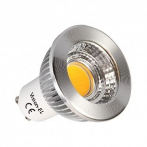 Spot LED 6W GU 10 dimmable COB Blanc chaud