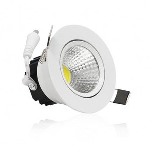Spot Led encastrable 7W COB blanc chaud