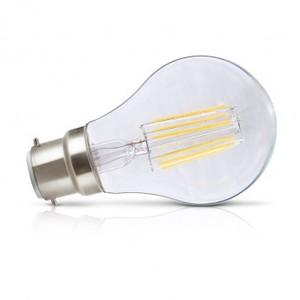 Ampoule LEDS filament B22 blanc chaud 8W