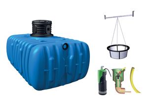Récupérateur d'eau de pluie 3000L à enterrer - GARANTIA   Attention lire les conditions de services après vente lors de la livraison à respecter :voir fichier pdf.