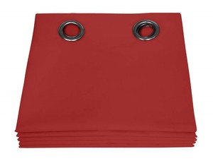 Rideaux Dream occultant couleur Rouge 135X250
