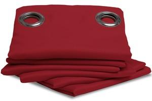 Rideau Isolant Thermique Hiver couleur Rouge 145 X 260 cm