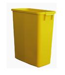 Poubelle de tri rectangulaire 60 Litres jaune sans couvercle