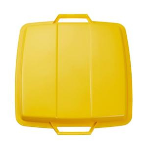 Couvercle jaune pour bac 90 litres